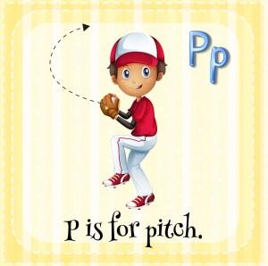 Kid Pitching a Baseball