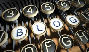 typewriter keys with BLOG